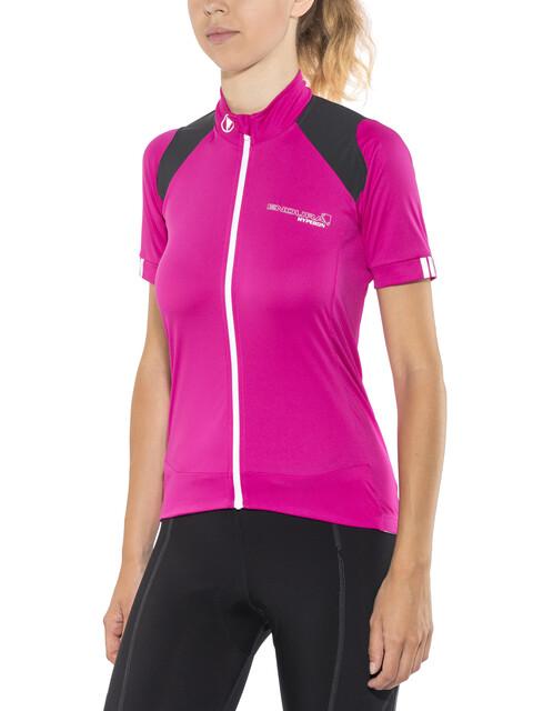 Endura Hyperon Kortärmad cykeltröja Dam pink/svart